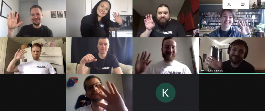 Team's travel plans to Lapland and Russia postponed, but in replacement we managed to arrange a successful virtual team day including e-learning, company future sights, Wolt lunch and virtual Pictionary.